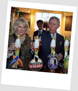 Prince Charles and Camilla at The Bell