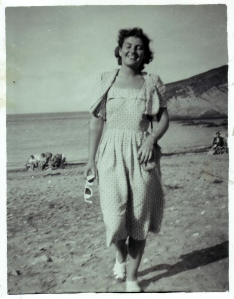 Mum on a beach